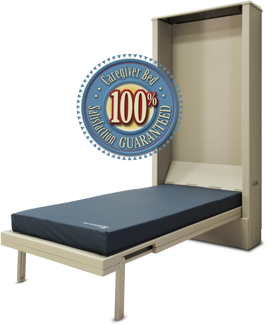 caregiver bed unfolded 100% certified